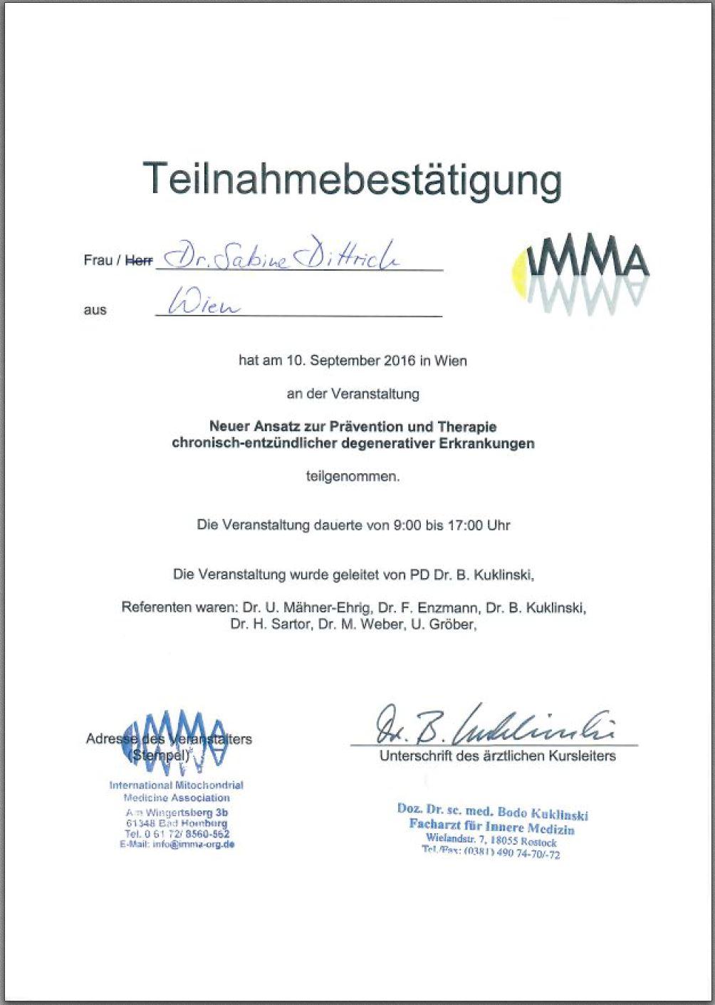Diplom Prävention und Therapie chronisch-entzündliche Erkrankungen